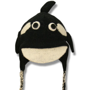 Kids Killer Whale Head Tuque