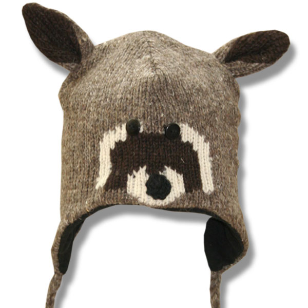 Racoon Face Kids Tuque