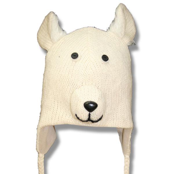 Polar Bear Head Kids Tuque
