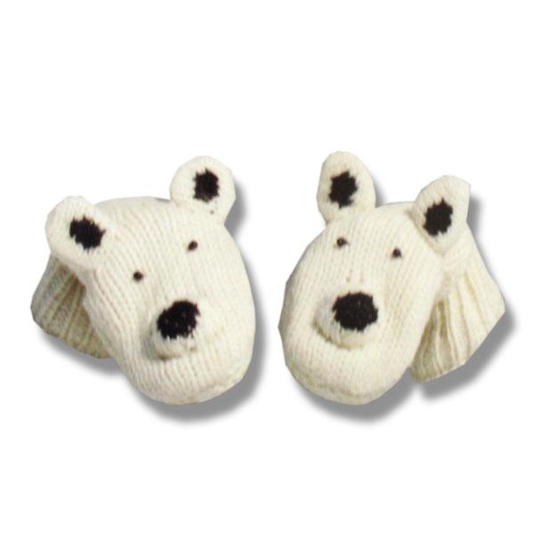 Polar Bear Kids Woolen Mittens