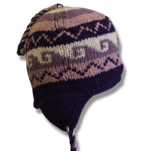 Purple Pink Mix Kids Tuque