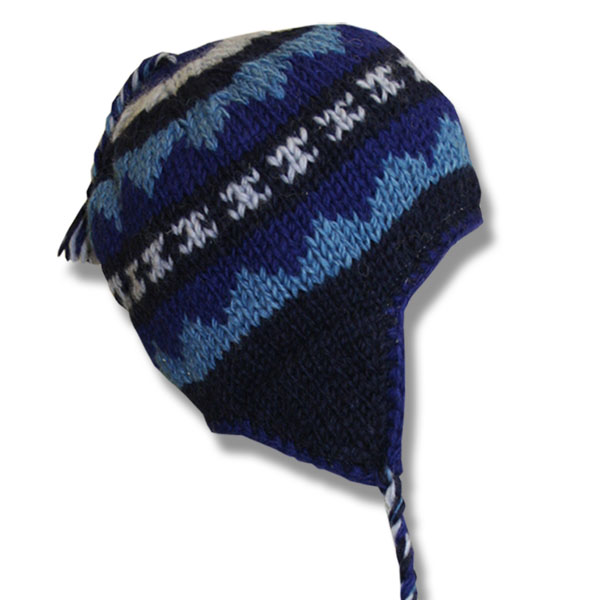 Navy Blue Mix Kids Wool Tuque