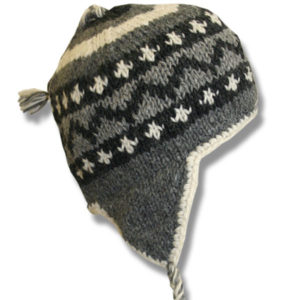 Grey Black Mix Kids Wool Tuque