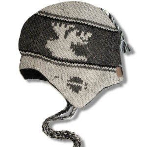 Moose Beige Kids Tuque