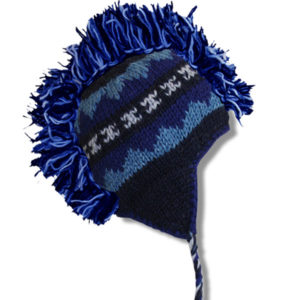 Navy Blue Mix Adult Mohawk Tuque
