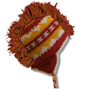Orange Yellow Mix Adult Mohawk Tuque