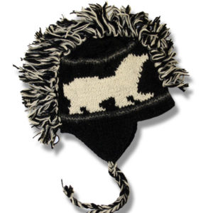 Polar Bear Black Adult Mohawk Tuque