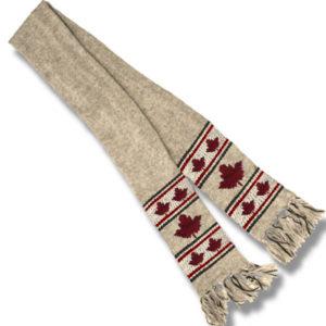 Maple Leaf BeigeScarf