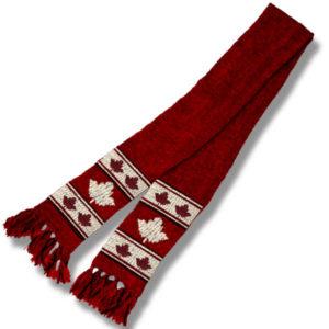 Maple Leaf BurgundyScarf
