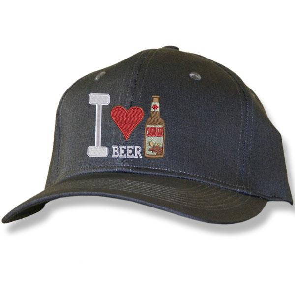 I Love Beer  Charcoal Cap