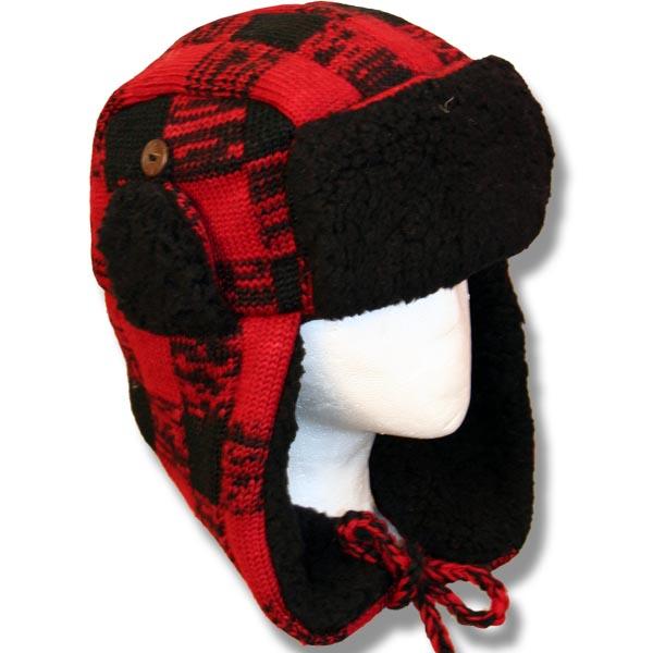 Adult Pilot Hats w/fur trim Buffalo