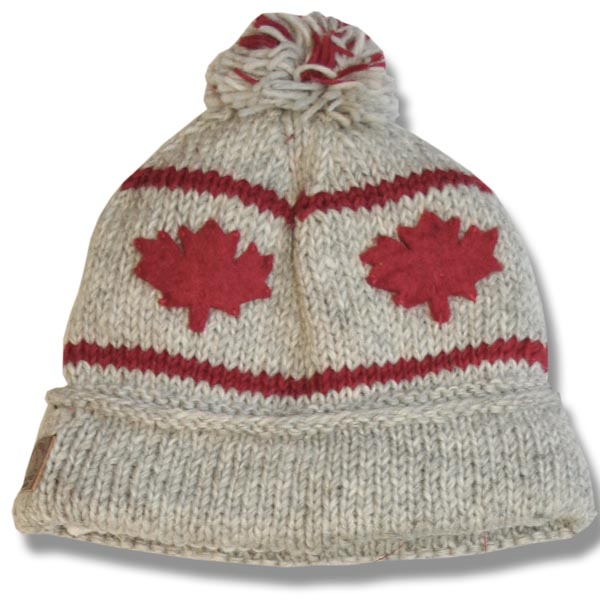Adult Roll Up Tuque w/Pompom