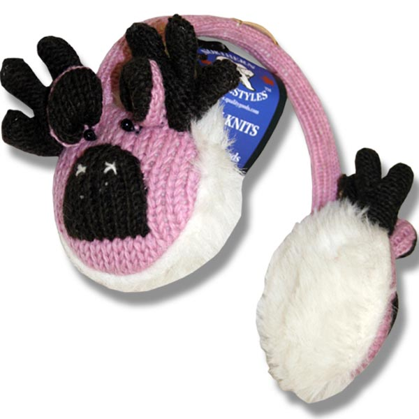 Ear muffs pink moose