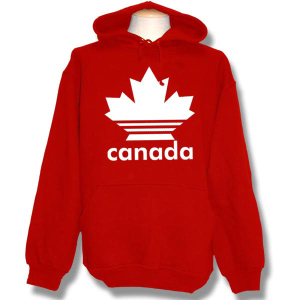 Canadian Maple Leaves with lines Pull-over Hoodie