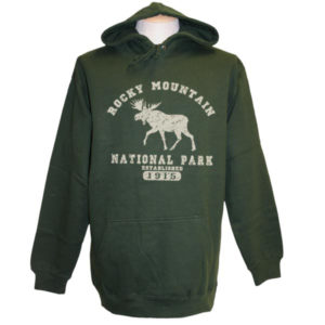 Canadian Moose DistressedPull-over Hoodie