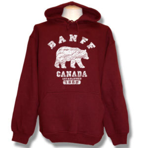 Banff Polar Bear DistressedPull-over Hoodie