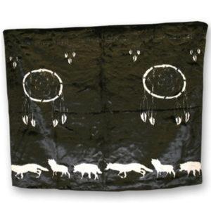 Dream Catcher Blk/Grey Fun Fur Blanket