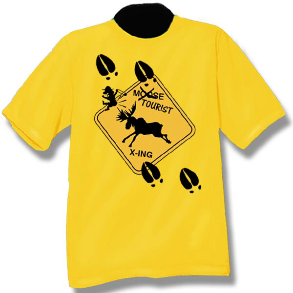 Moose CrossingScreen Print T-Shirt