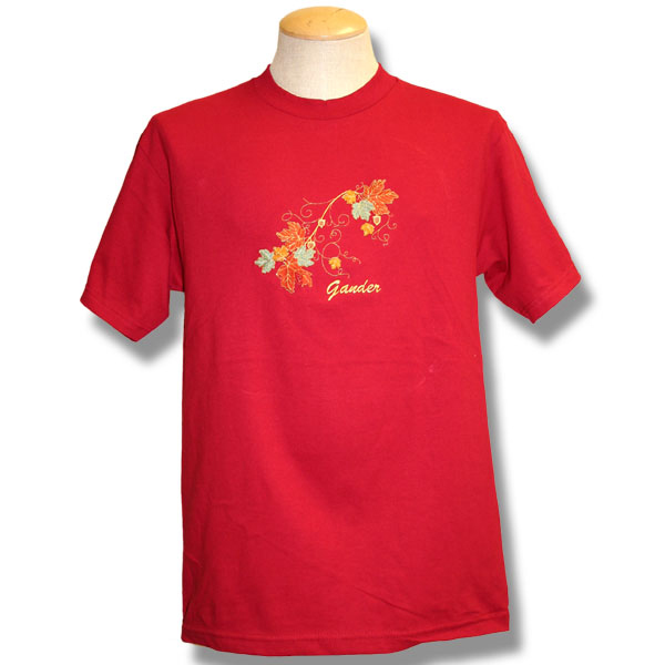 Maple Leaves GoldEmbroidery T-Shirt