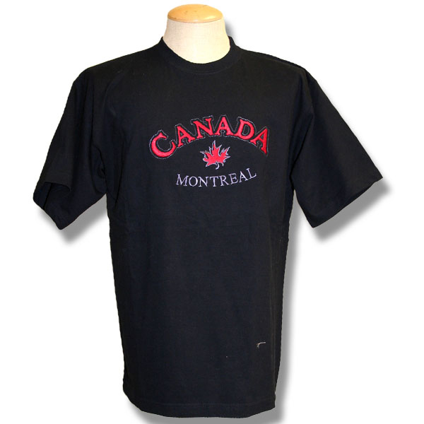 Canada Maple LeafEmbroidery T-Shirt