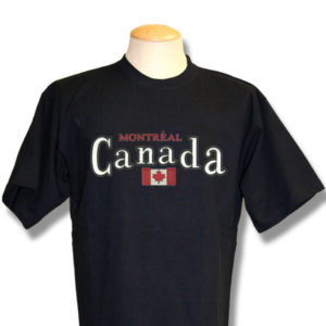 Canada With FlagEmbroidery T-Shirt