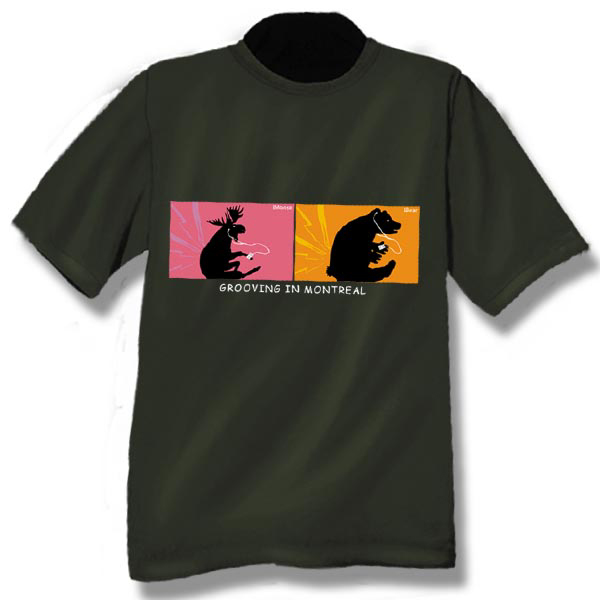 iMoose/iBear Grooving in . . . Screen Print T-Shirt
