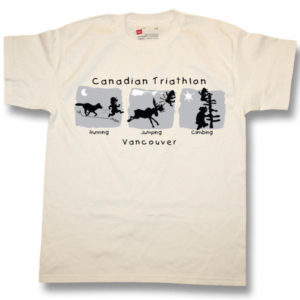 Canada TriathlonScreen Print T-Shirt