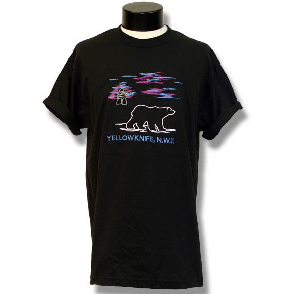 Inukshuk and Northern LightsEmbroidery T-Shirt