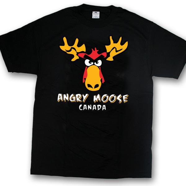 Angry MooseScreen Print T-Shirt