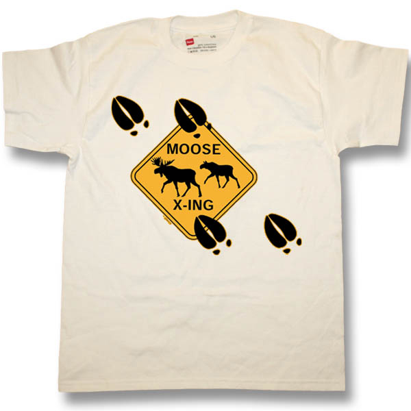 Moose CrossingScreen Print Youth T-Shirt