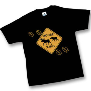 Moose CrossingScreen Print Youth T-Shirt
