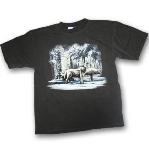Wolf Pack Winter Scene Print T-Shirt
