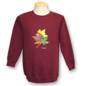 Three Realistic Maple Leaves Sweat Shirt