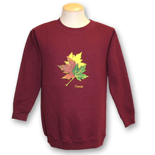 Three Realistic Maple Leaves Sweat Shirt