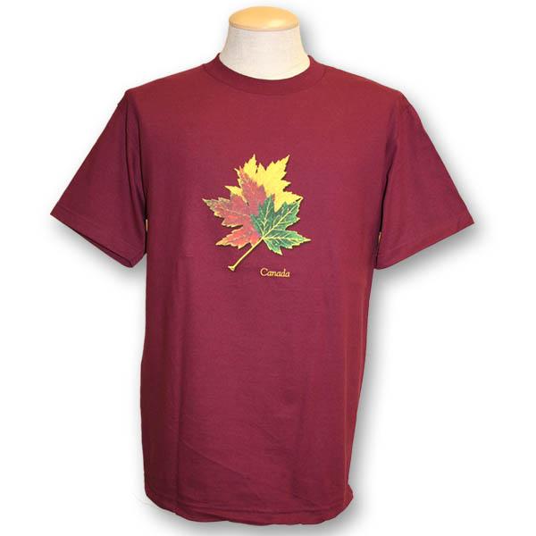 Three Realistic Maple LeavesScreen Print T-Shirt