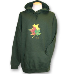 Three Realistic Maple LeavesPull-over Hoodie