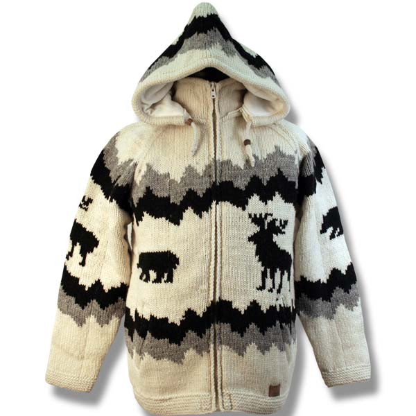 Adult Mountain Animals Hooded Jacket