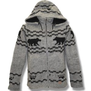 Adult Black Bear Hooded Jacket