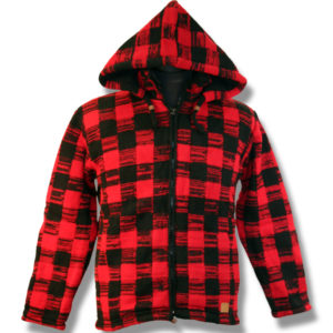 Adult Buffalo Check Hooded Jacket