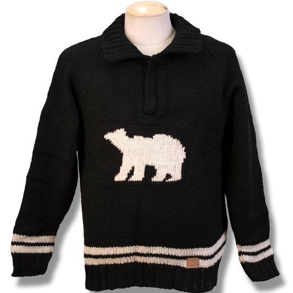 Adult Fleece Lined 1/4 Zip Sweater