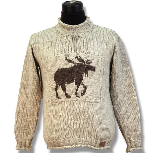 Adult Roll Neck un-lined wool sweater