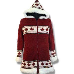 Adult Long Coat with Fur Trim