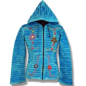 Adult Cotton Hoodie with daisies