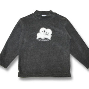 Two Baby Seals EmbroideryKids Fleece Sweatshirt