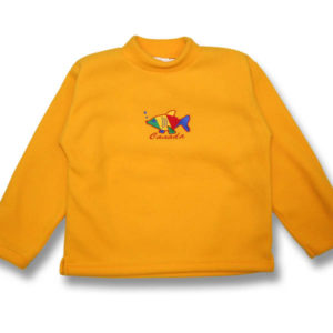 Multi-color Fish EmbroideryKids Fleece Sweatshirt