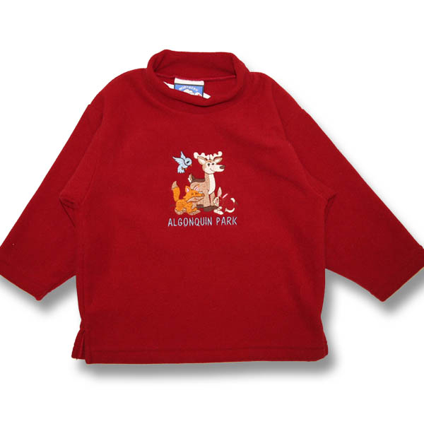 Kids Sweater fleece Animals and Bird Embroidery