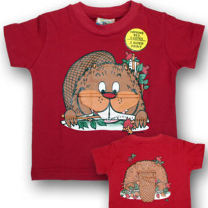 KIDS FLOPPY BEAVER T-SHIRT FRONT/BACK PRINT