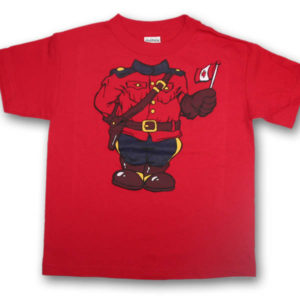 Headless MountieScreen Print Kids T-Shirt