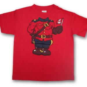Headless MountieScreen Print Kids T-Shirt
