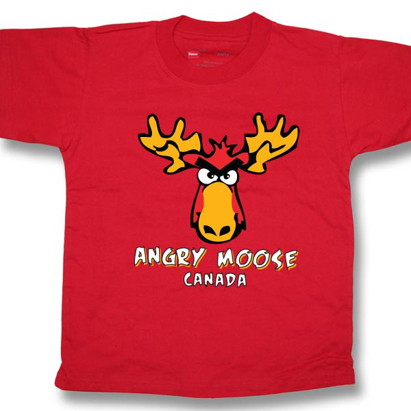 Angry Moose . . .Screen Print Youth T-Shirt